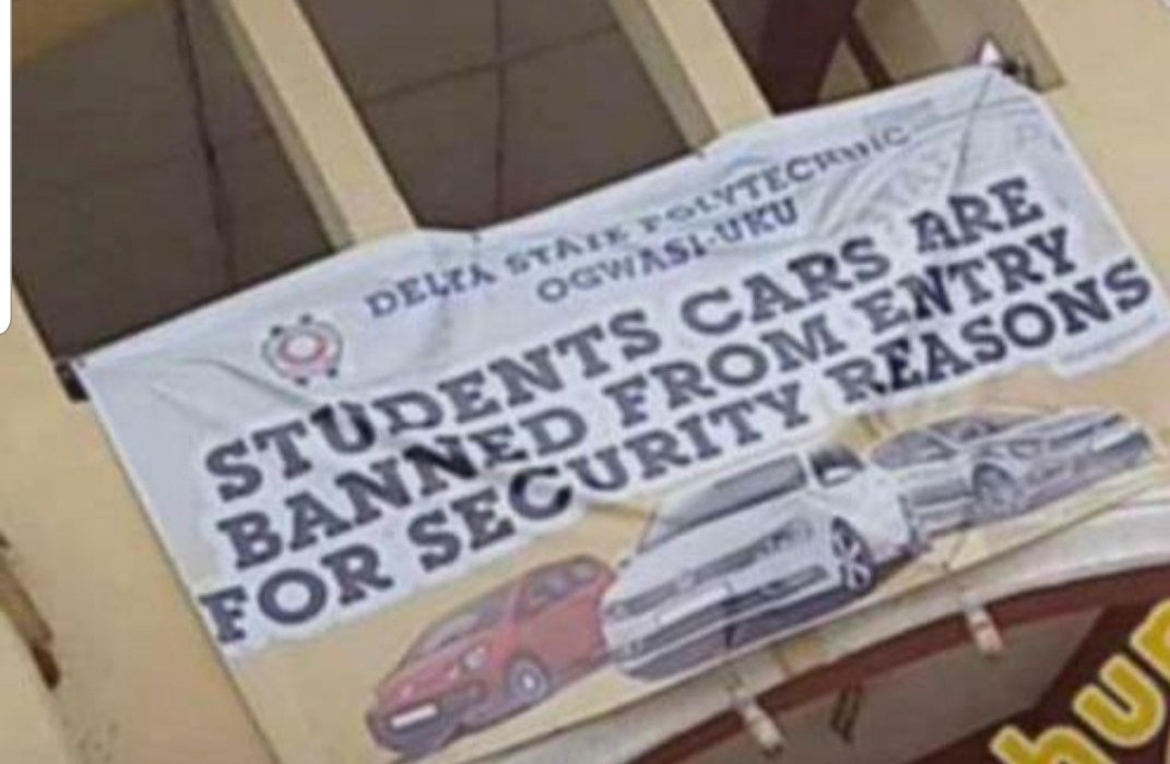 Delta State Polytechnic allegedly bans students from driving cars on campus
