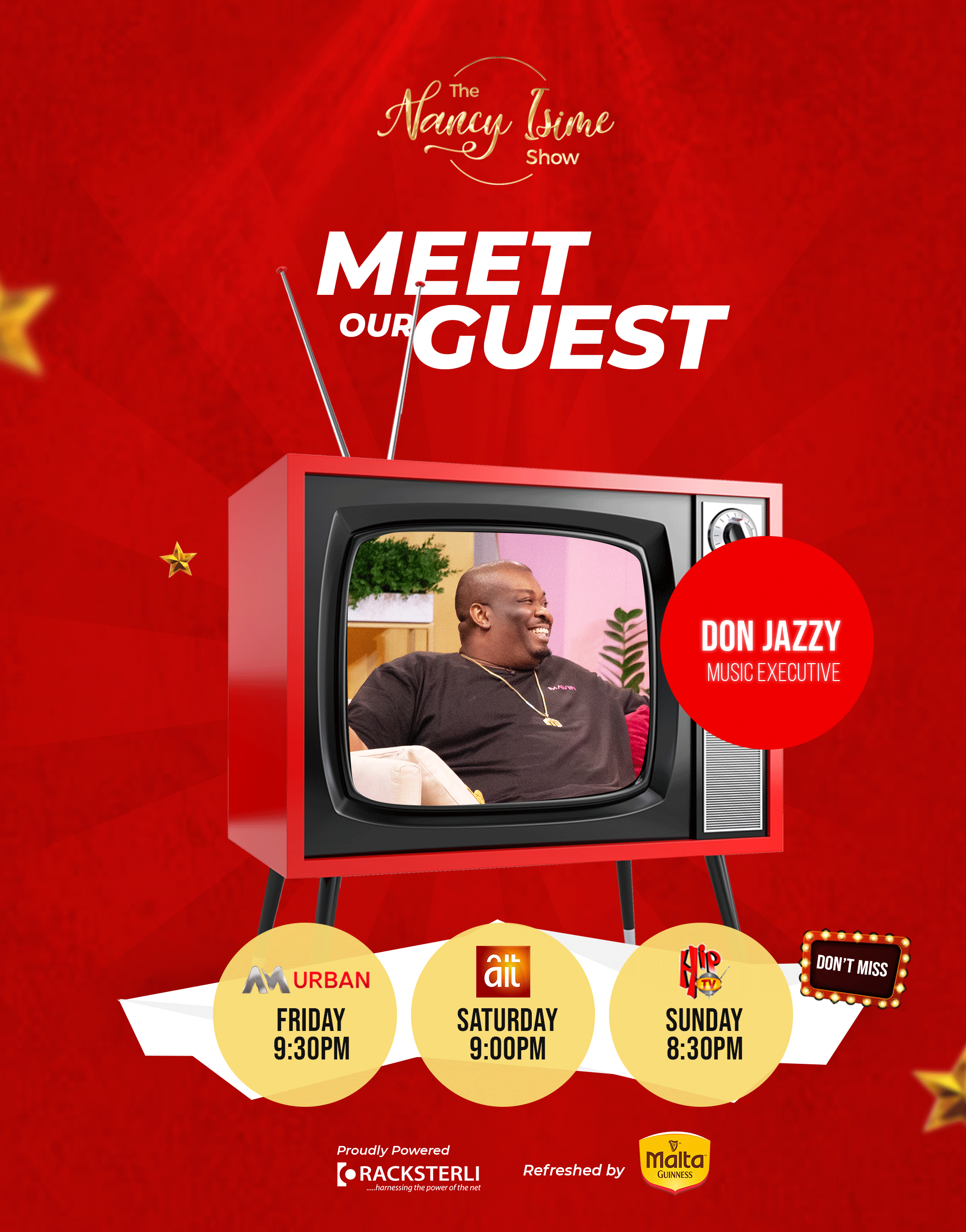 Don Jazzy Revealed as First Guest on The Nancy Isime Show Season 2