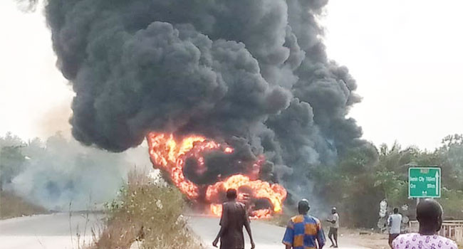 Driver burnt to death in Ogun diesel tanker explosion