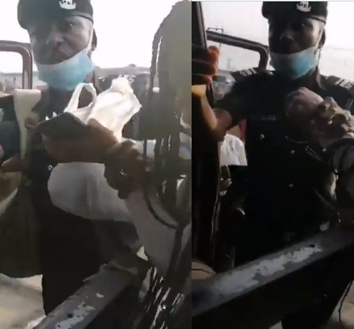 #OccupyLekkiTollgate protest: Police officers allegedly attempt to arrest two Nigerian ladies for insulting the police force