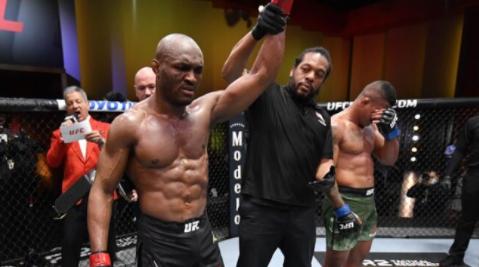 Nigeria?s Kamaru Usman knocks out Gilbert Burns to retain his welterweight title