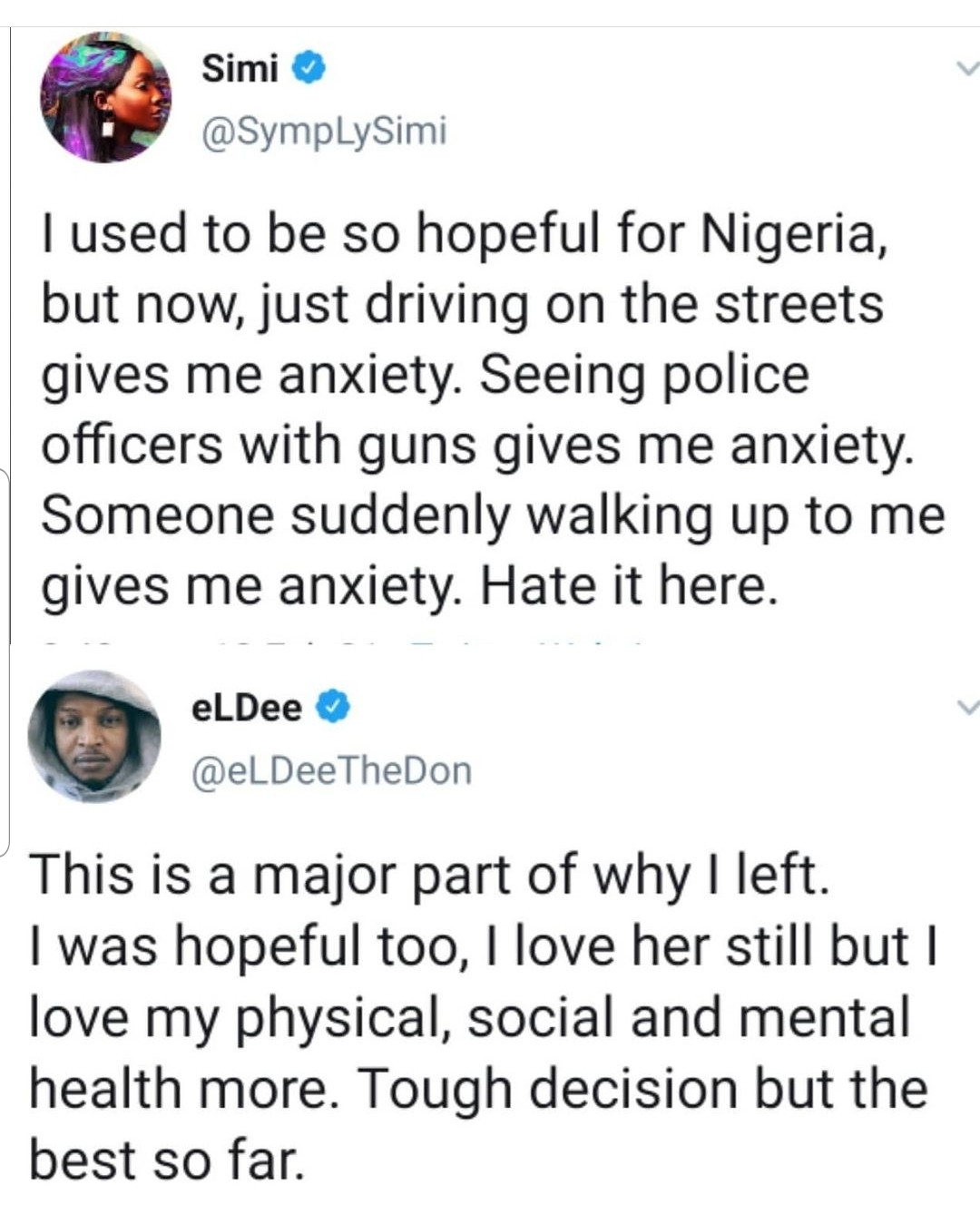 Eldee explains why he relocated to the U.S
