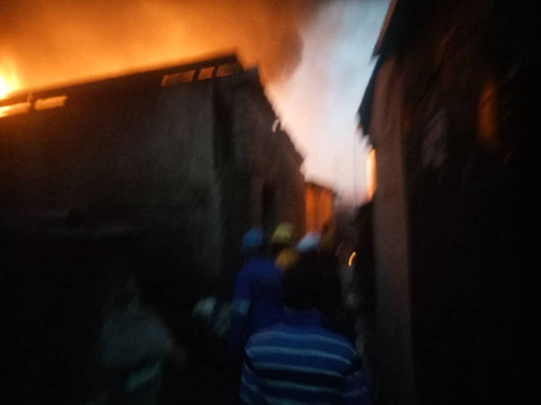Iddo Bus terminal gutted by fire (photos)