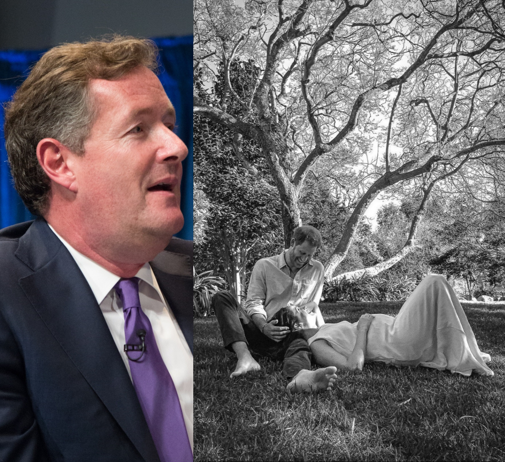 Piers Morgan slams Prince Harry and Meghan Markle for making a public baby announcement despite claiming they want privacy