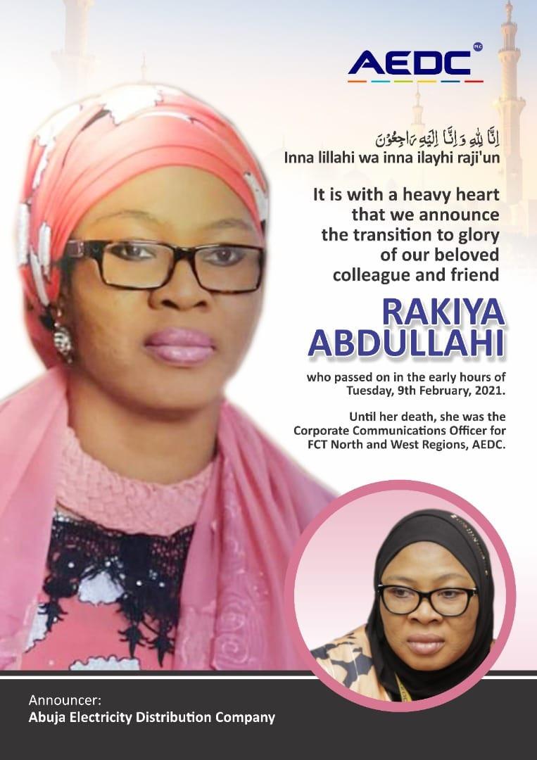 Gunmen allegedly kill staff of Abuja Electricity Distribution Company, injure her husband