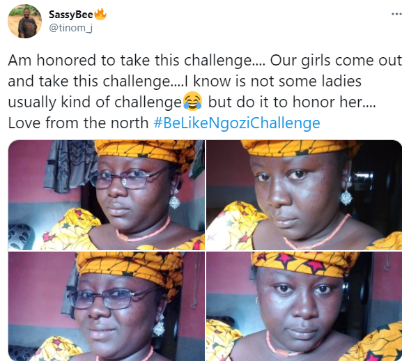 #BeLikeNgoziChallenge trends as Nigerians dress up like Ngozi Okonjo-Iweala to celebrate her emergence as WTO Director-General