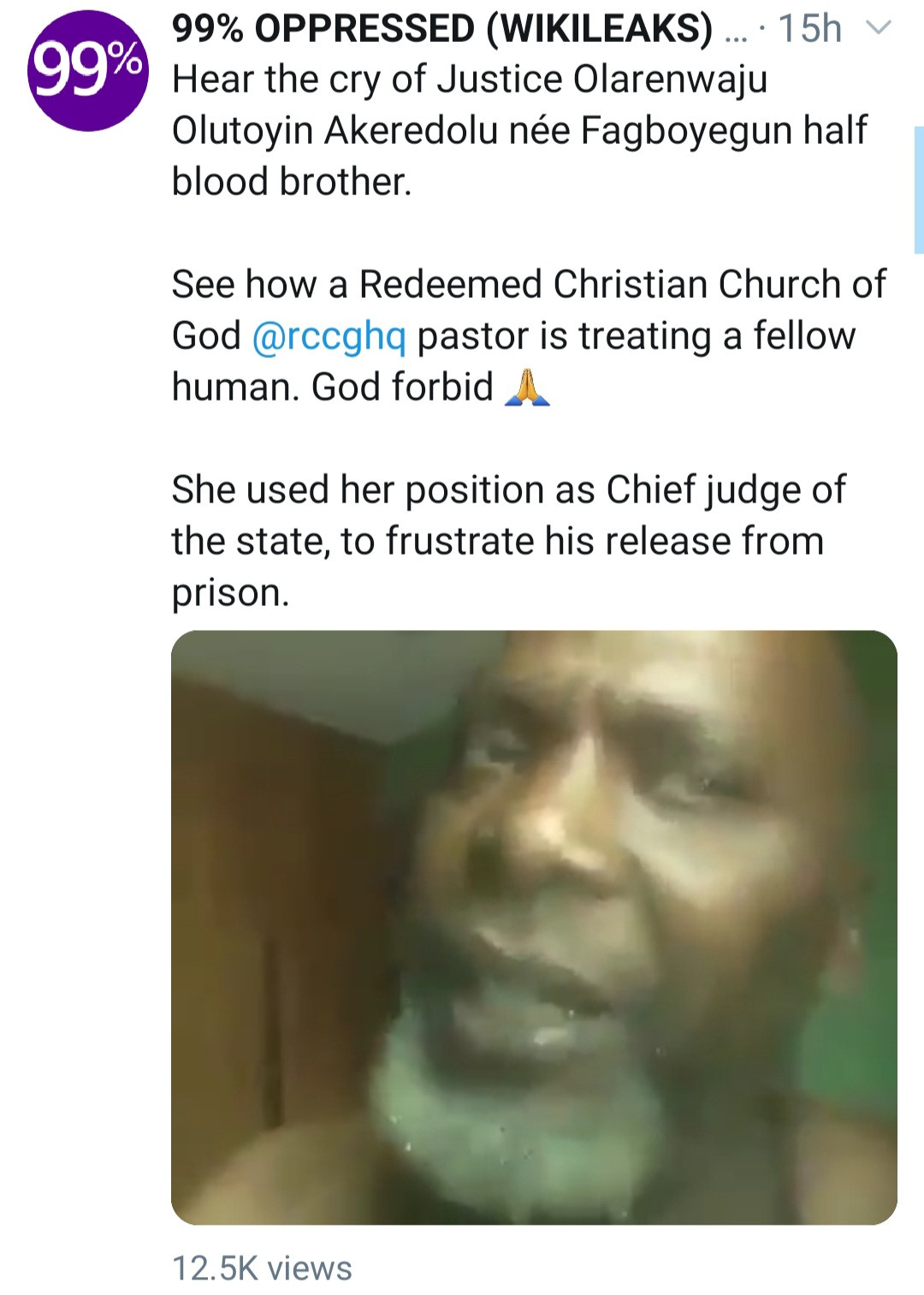 Abroad-based man cries out from Nigerian prison as he accuses his half-sister, Chief Justice of Ondo state of using her position to keep him in jail (video)
