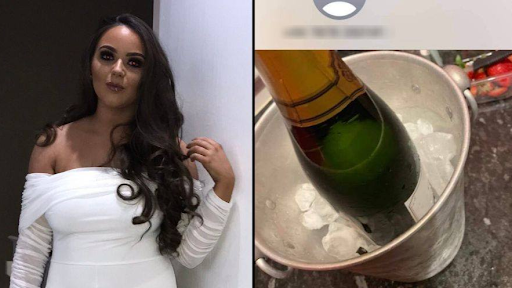 Woman accidentally sends a photo of herself enjoying a huge bottle of champagne at a party moments after telling her boss she couldn?t come to work due to bad weather