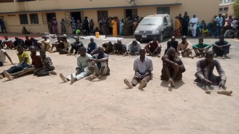 Police parade 40 suspected kidnappers, cattle rustlers in Adamawa