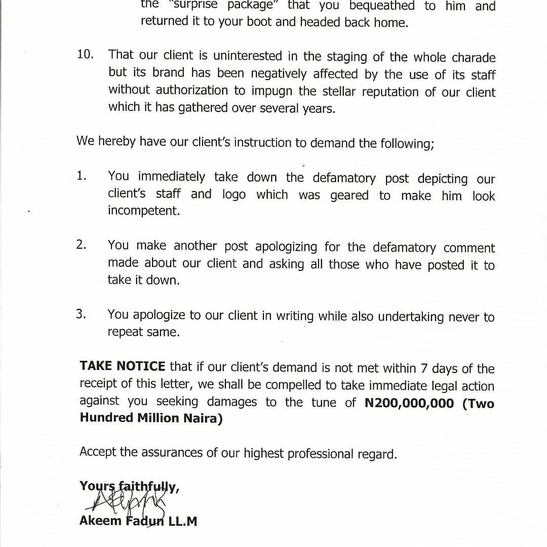 Security outfit threatens to sue socialite Pretty Mike for using one of its officers to carry out a