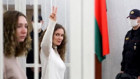 Belarus jails two TV journalists for 2 years for filming protests against the country