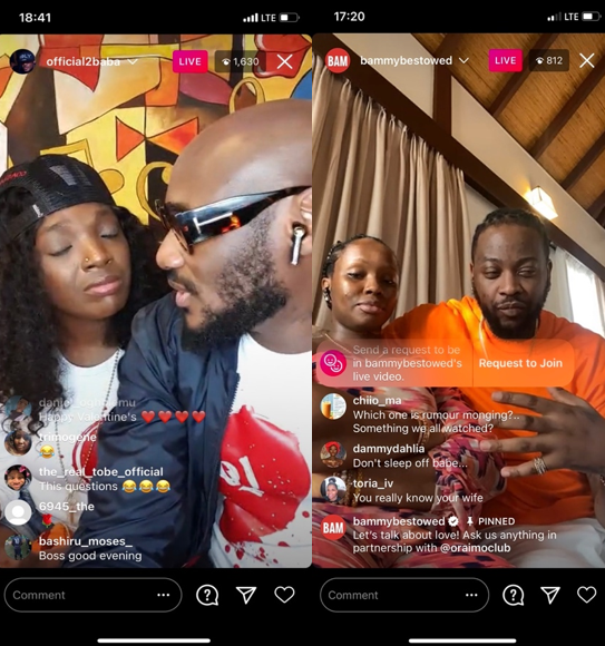 2Baba & Annie team up with other celebrity couples to share love with Oraimo