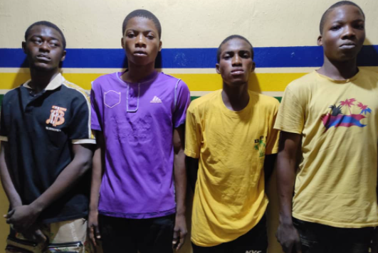 Four teenagers arrested for allegedly gangraping a 15-year-old girl in Ejigbo (photo)