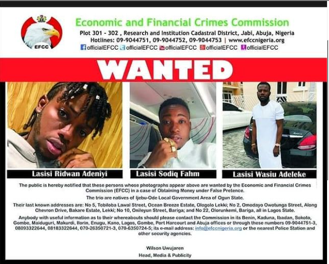 Three brothers among 16 men declared wanted for various fraud related cases