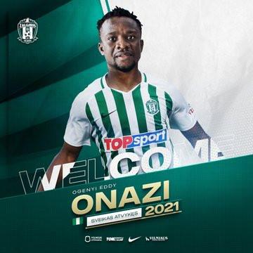 Ogenyi Onazi signs for Lithuanian club champions Zalgiris