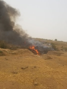 Breaking: Military aircraft crashes in Abuja (Video/Photos)