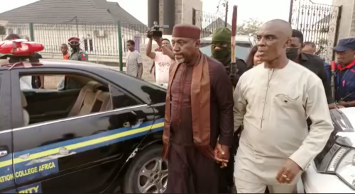 Okorocha was invited to explain why he led the violent break-in into an estate sealed by Imo government that led to damages - Imo Police