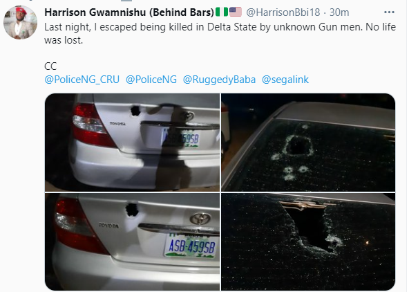 Activist, Harrison Gwamnishu, survives assassination attempt in Delta (photos)