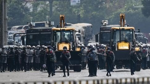 Myanmar coup: Thousands including government workers defy military warning and take over the streets in massive protests (Photos/video)