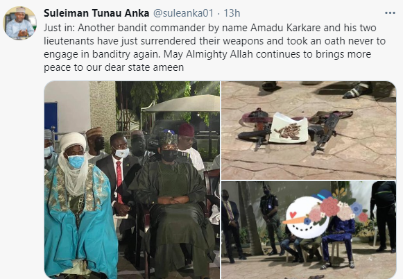 Repentant bandits surrender their arms in Zamfara (photos)