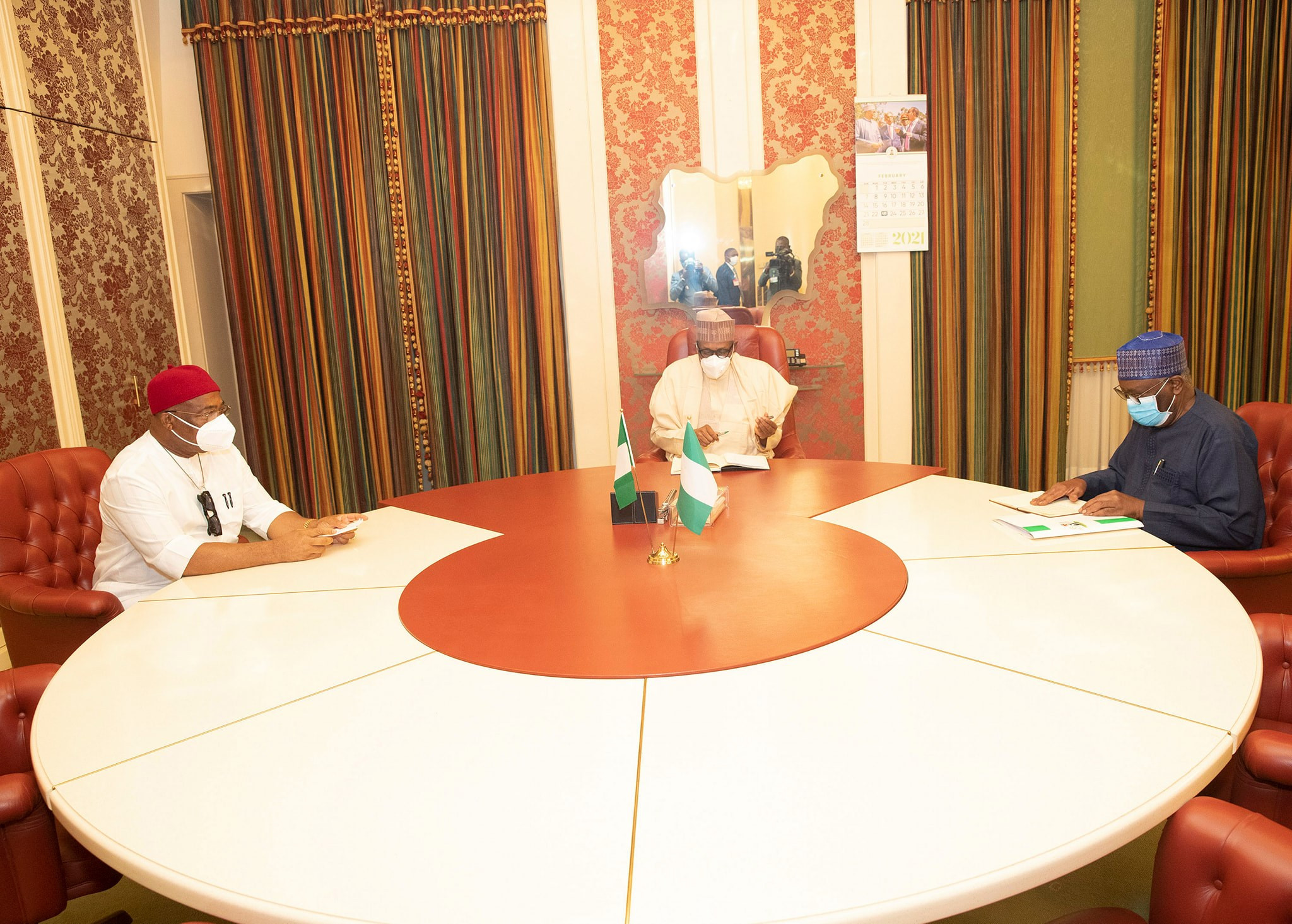 President Buhari receives Imo state governor, Hope Uzodinma, in Aso Rock (photos)