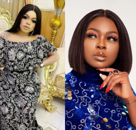 """""""Madam, just come out and say you are broke""""- Bobrisky says after Ka3na condemned celebrities who gift money to fans for tattooing their photos on their body"""
