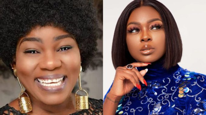 """""""Stupid girl""""- Actress Ada Ameh blasts Ka3na for condemning her fan who tattoed her name on her thigh (video)"""