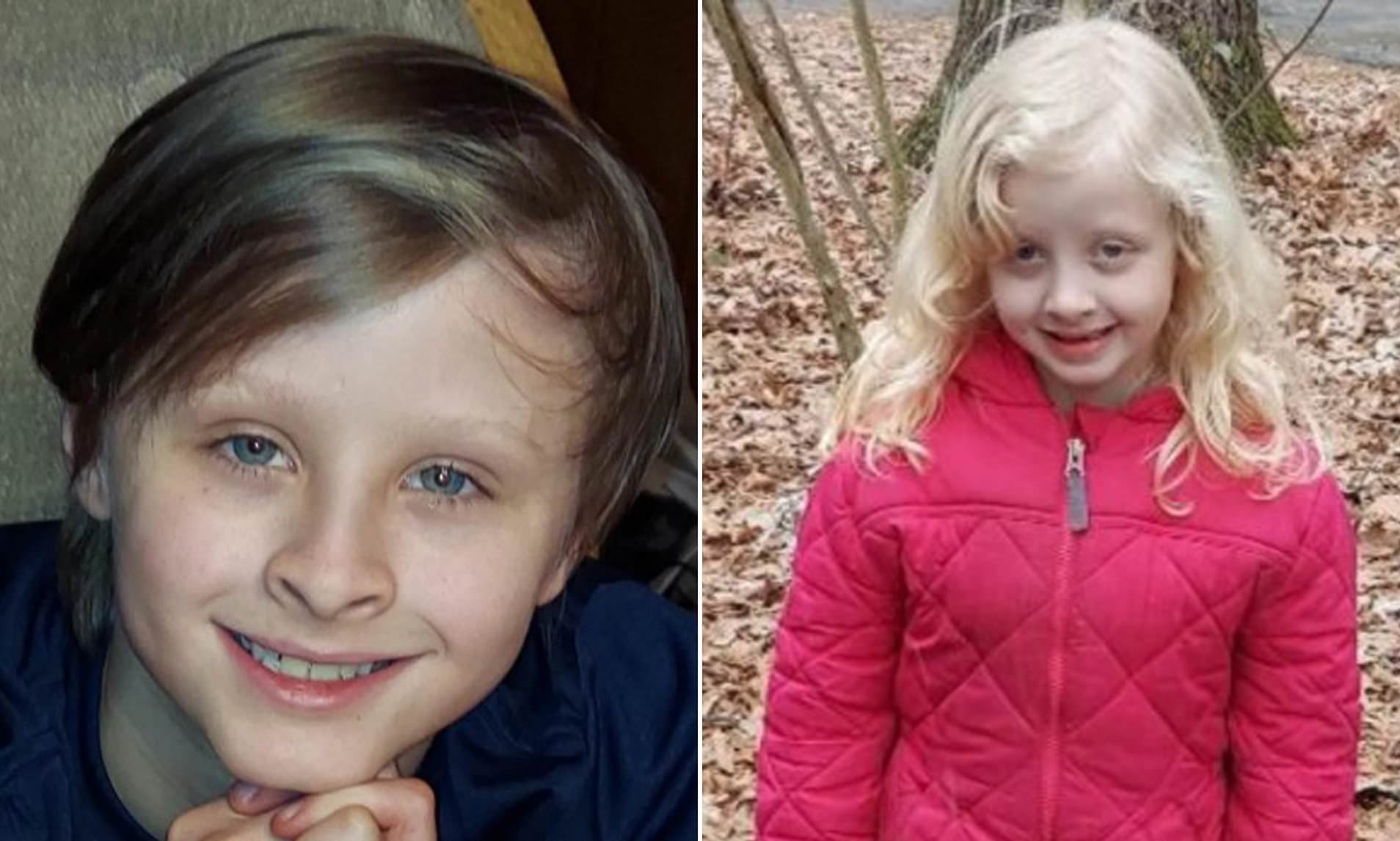 10-year-old boy drowns after leaping into frozen lake to save his six-year-old sister who fell through the ice?