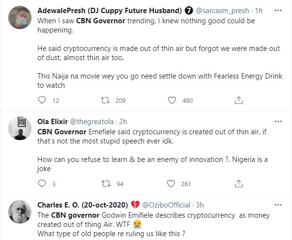 Nigerians react to CBN Governor, Godwin Emefiele