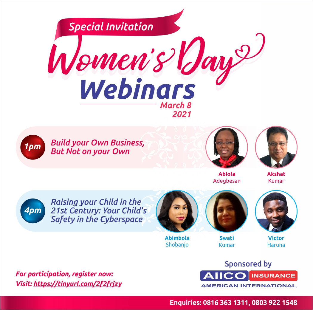 AIICO Insurance Plc Invites the Public to its International Women?s Day Webinars