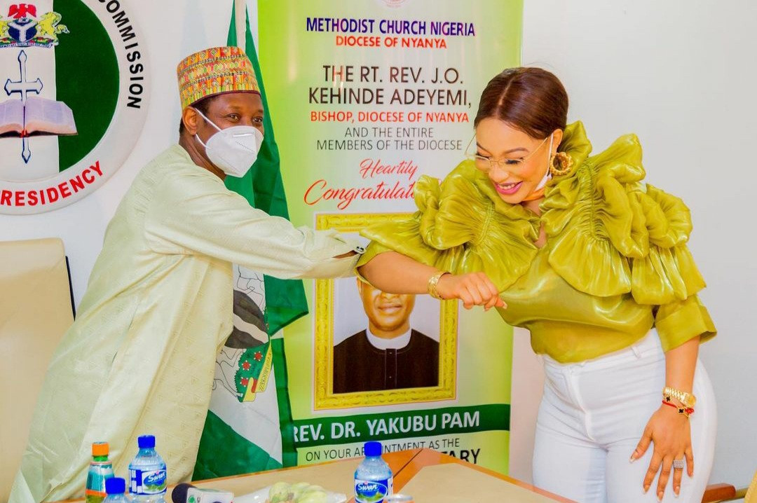Tonto Dikeh appointed an ambassador of peace building by the Nigerian Christian Pilgrim Commission
