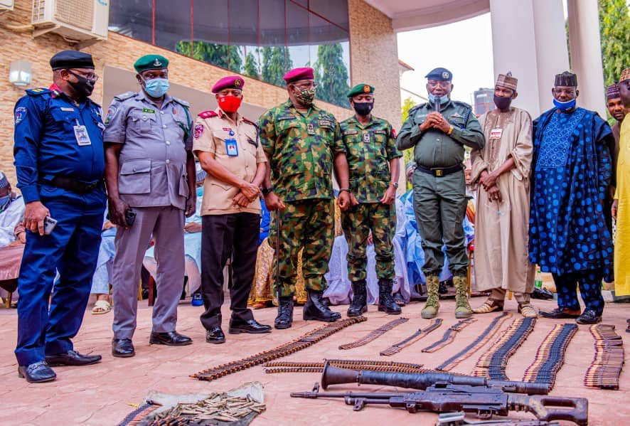 Repentant bandits surrender their weapons in Zamfara (photos)