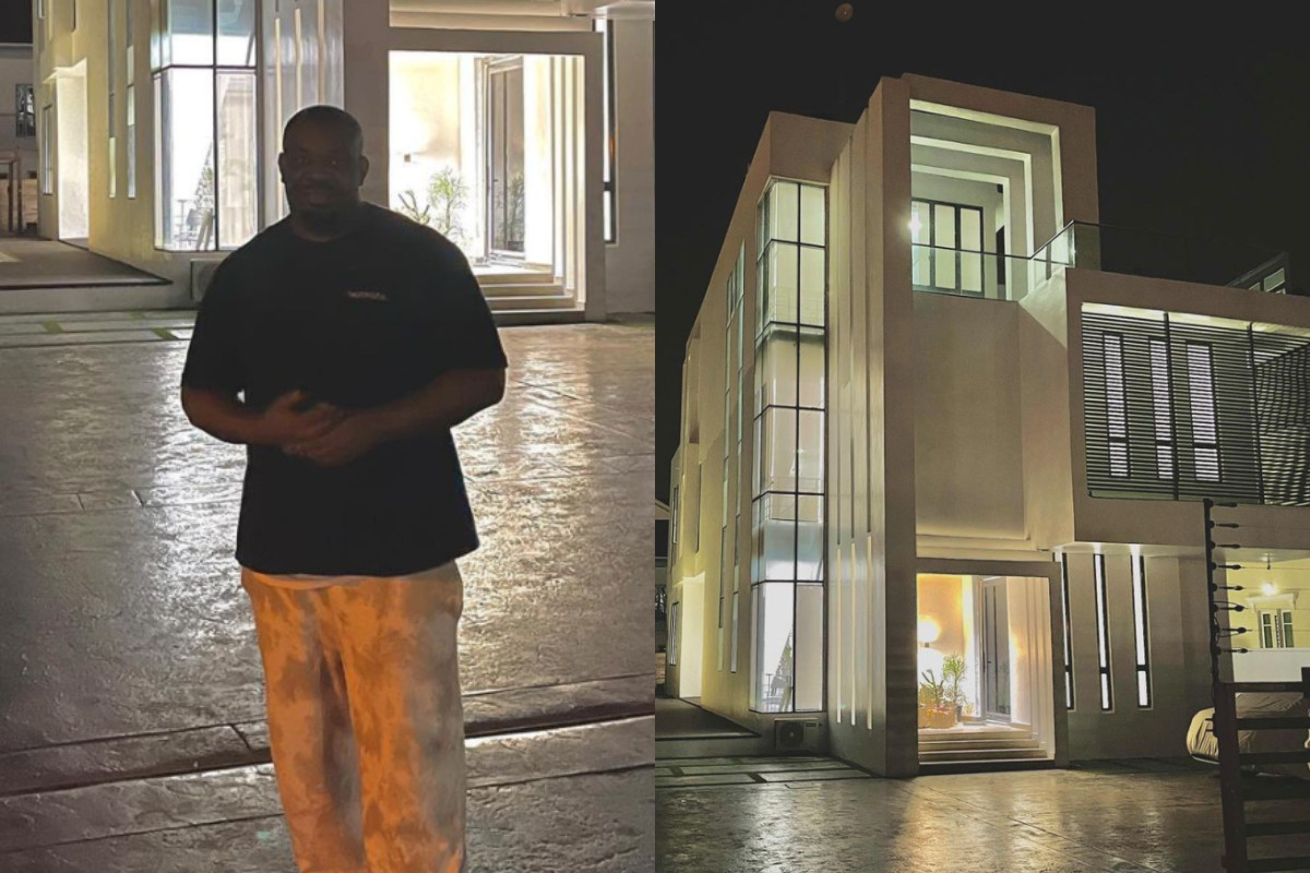 Don Jazzy shares a video of the interior of his new house in Lekki (video)