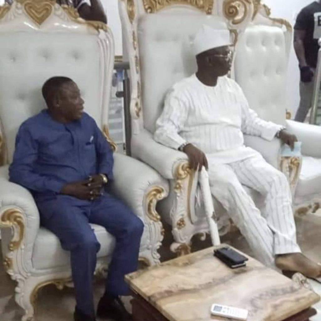 Yoruba activist, Gani Adams meets Sunday Igboho (photos)