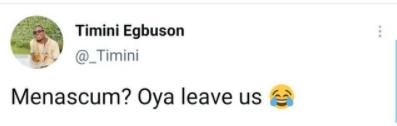 """Oya leave us""- actor Timini Egbuson tells ladies always saying men are scum"