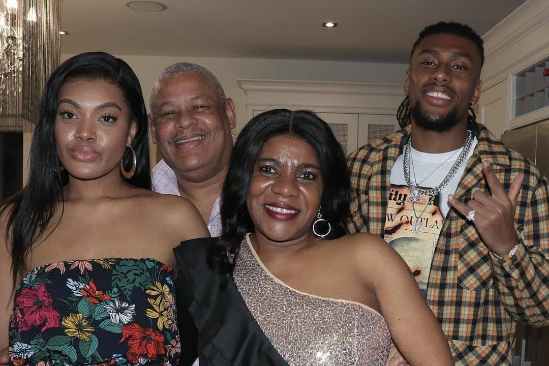 Alex Iwobi shares lovely photos with his parents