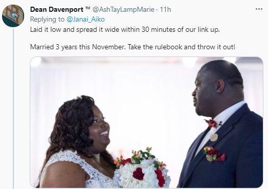 Lady who met and had s*x with a man on their first date celebrates their wedding (photo)