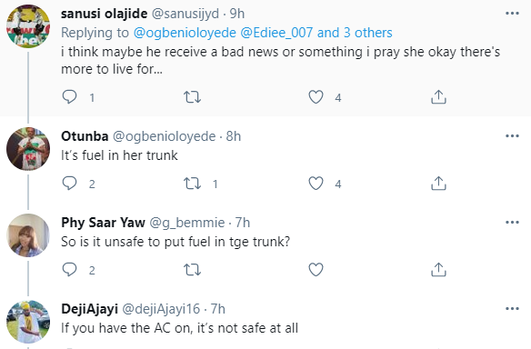 Nigerians rescue elderly woman who started convulsing while driving on Lekki-Epe expressway
