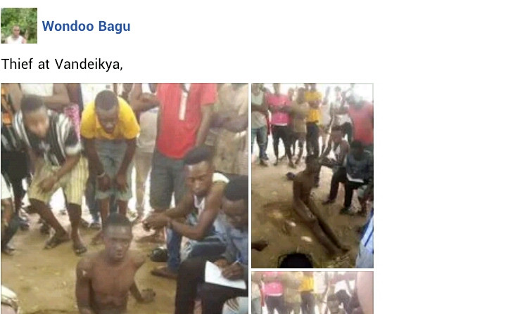 Young man stripped naked, publicly disgraced for allegedly stealing chicken in Benue