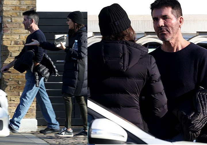 Singer, Simon Cowell engages in a