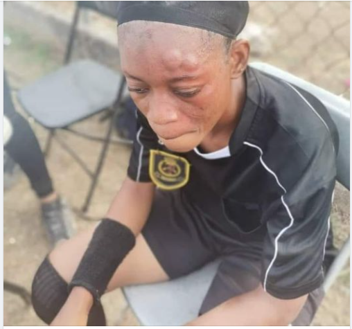 Female footballer beats up female referee