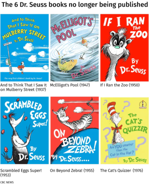 Outrage as Joe Biden cancels Dr. Seuss books for racist imagery