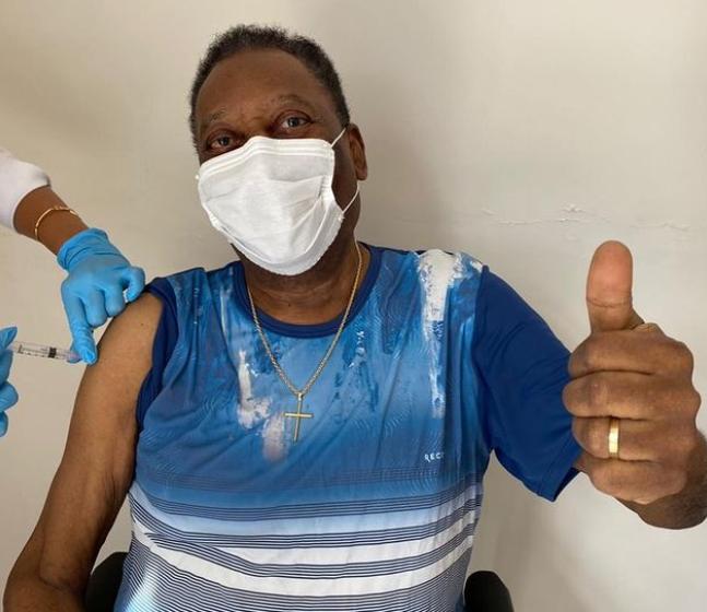 Football legend, Pele receives COVID-19 vaccine