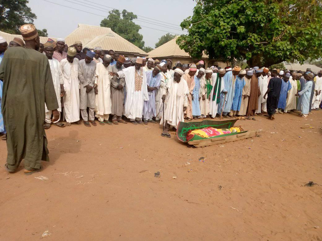 Photos from the funeral of man who died a day after his wedding in Niger State