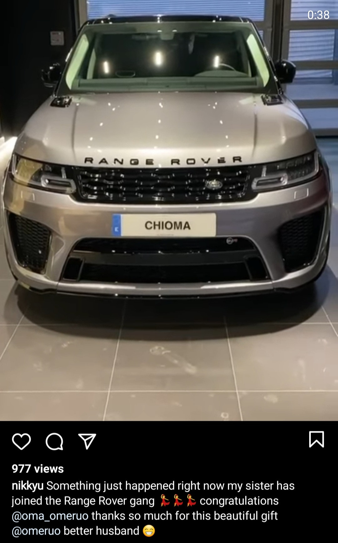 Kenneth Omeruo gifts wife, Chioma, a Range Rover as a birthday gift (video)