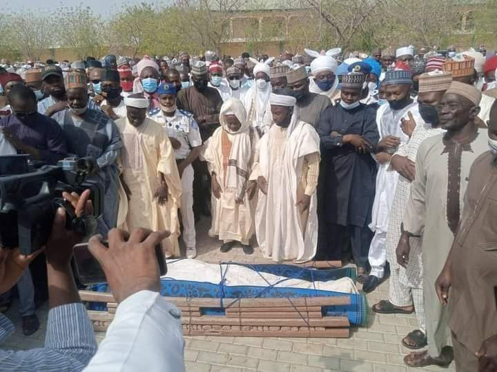 Mammoth crowd as Katsina billionaire buries his son killed in power bike accident