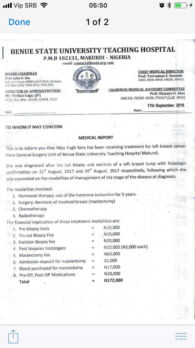 Benue State University Teaching Hospital cuts off woman