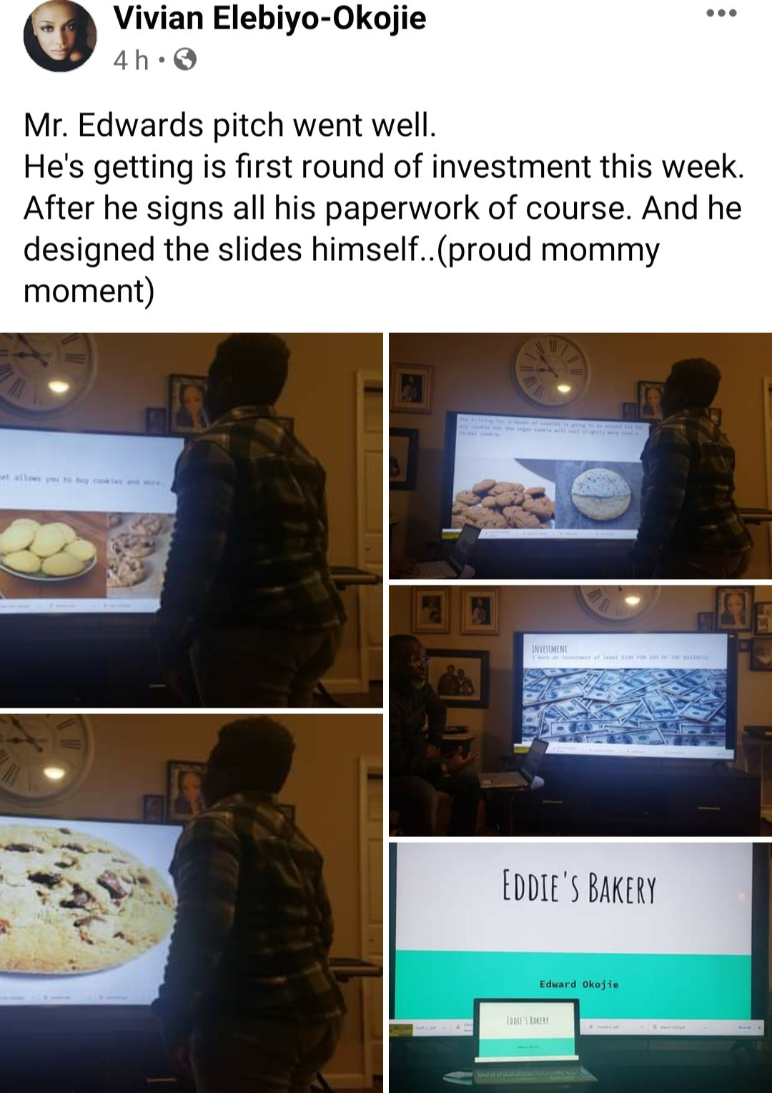 Nigerian mum makes her son, 9, draft a proposal and pitch his business idea after he asked for money to start a bakery business