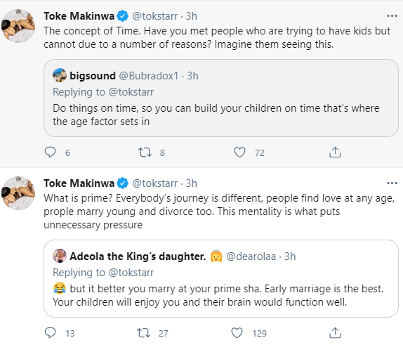Toke Makinwa addresses those who age-shame women and ask them to go and marry before they clock 40