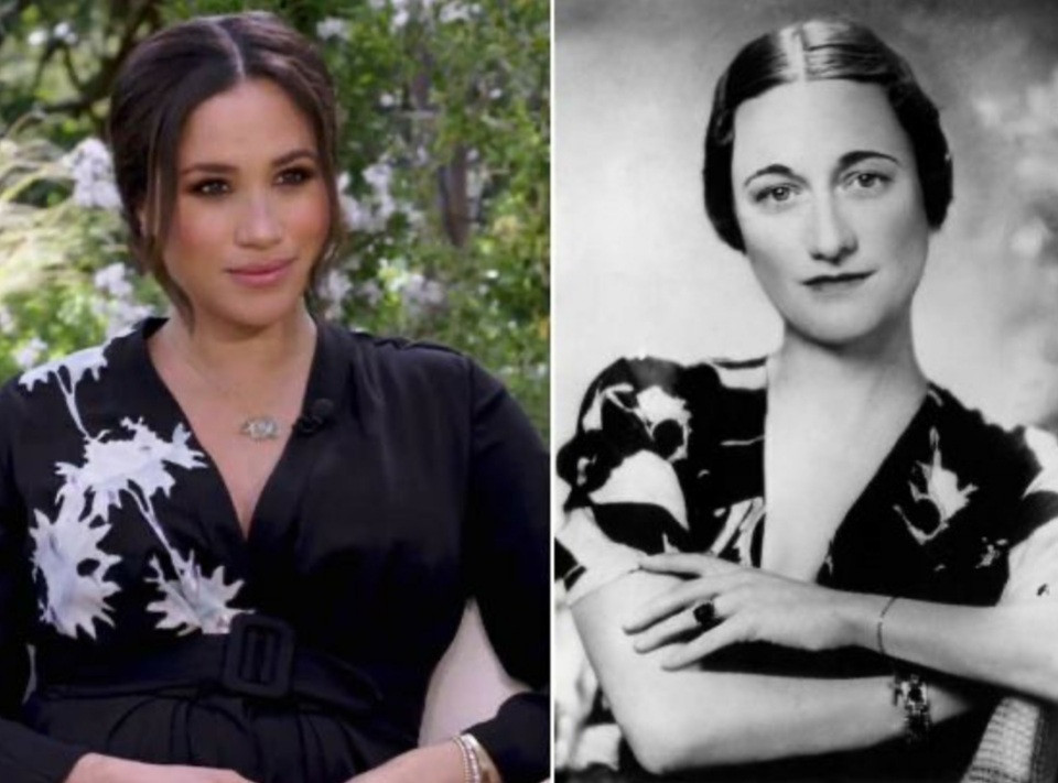"""""""Time to ban our Princes from marrying American women"""" Piers Morgan says as he compares Meghan to American socialite Wallis Simpson who led Harry"""